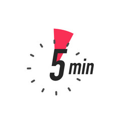 Icon 5 minutes timer color style vector
