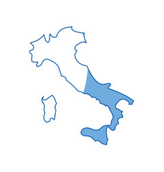 Italy map silhouette vector