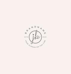 Jb letter feminine logo design vector