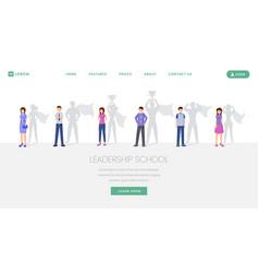 leadership school landing page template vector image