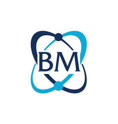 letter bm technology vector image
