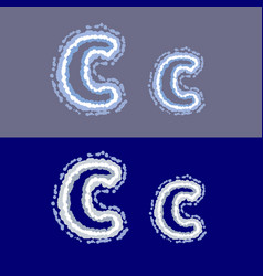 letter c on grey and blue background vector image