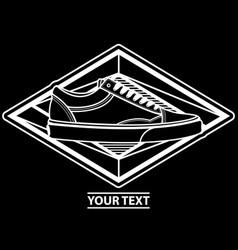 logo sneakers design vector image