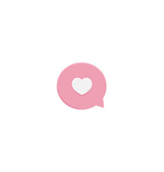love chat icon design for dating app design vector image