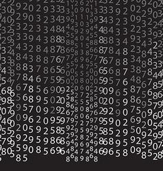 Matrix concept black and white background vector