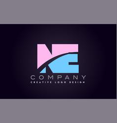 Ne alphabet letter join joined letter logo design vector
