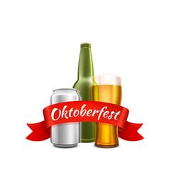 oktoberfest beer festival celebratory cover of vector image