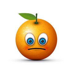 Orange sad emoji vector