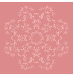 Ornate flower pattern on pink background vector