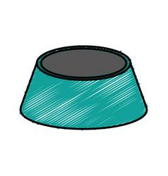 Pet food bowl vector