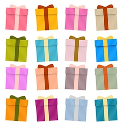 Present Boxes Gift Boxes Set Isolated on White vector