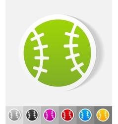 Realistic design element baseball vector