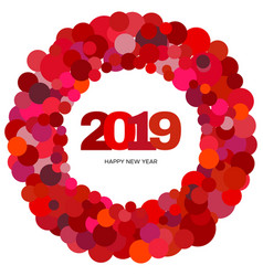 ring of circles and the inscription happy new year vector image