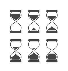Sands of time hourglass isolated symbols vector