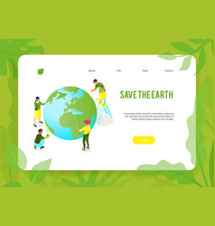 save earth website banner vector image