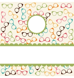 Seamless colorful pattern with glasses vector