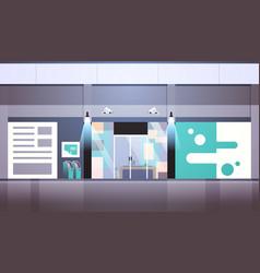 security guard entrance door business building vector image