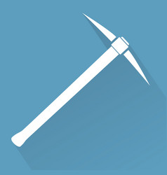 silhouette of pickaxe vector image