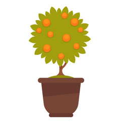 Small tree with fruits vector