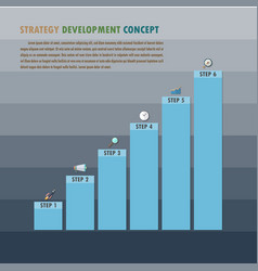 strategy development concept vector image