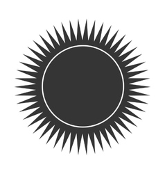 Sun burst in white and black colors vector