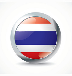 Thailand flag button vector