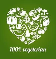 Vegeterian vector image