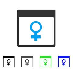 Venus female symbol calendar page flat icon vector