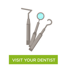 Visit dentist advice dental care medical advice vector