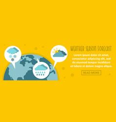 weather season forecast banner horizontal concept vector image
