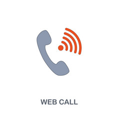 web call icon premium two colors style design vector image