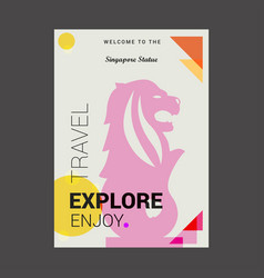 welcome to the singapore statue singapore explore vector image