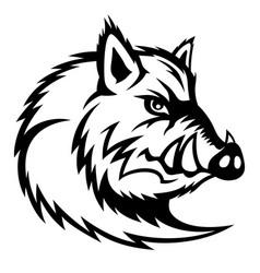 wild boar sign vector image