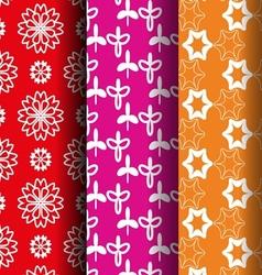 flower retro style pattern vector image