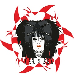 Girl Face Witch Sign vector image vector image