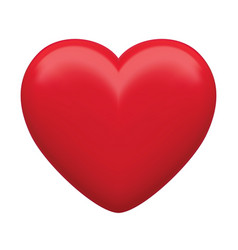 Red heart isolated 3d vector