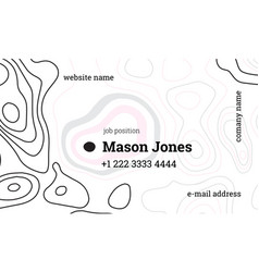 White and pink creative business card template vector