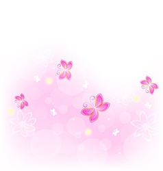 Abstract nature background with butterfly for vector image vector image