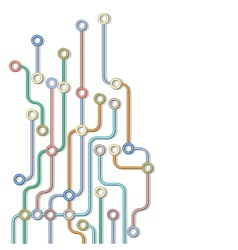 Abstract subway map vector image