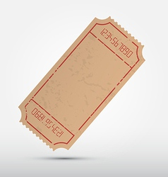 Empty Ticket Isolated on Grey Background vector image vector image