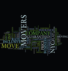 flat rate movers in nyc text background word vector image