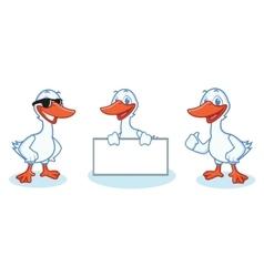 Goose mascot happy vector