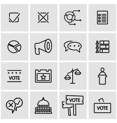line election icon set vector image