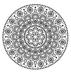 Mandala art australian dot painting black vector