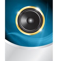 speaker on blue neon vector image vector image
