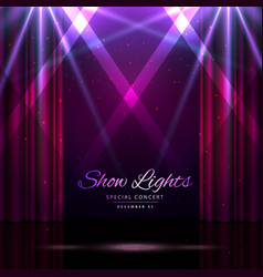 stage with curtains and spotlights vector image vector image