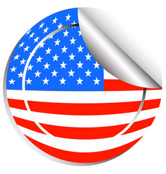 sticker design for flag of usa vector image