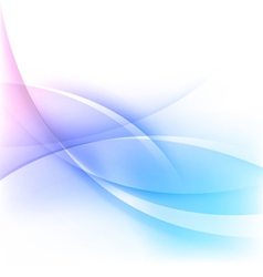 abstract blue wavy lines background vector image