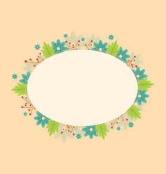 Art of frame with flower spring vector
