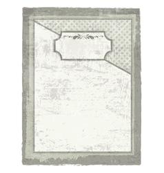 decorative grunge background vector image vector image